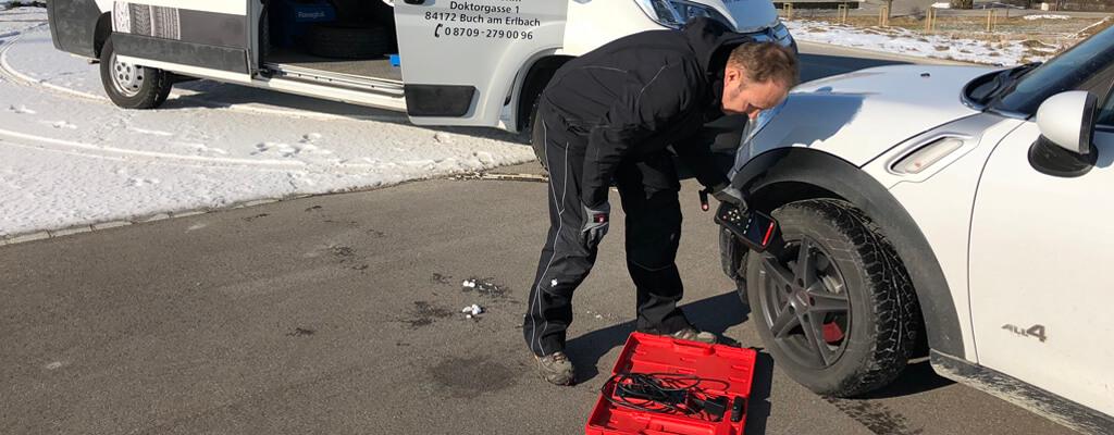 Reifendruckkontrolle nach Reifenmontage